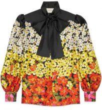 Gucci - Degradé flowers silk twill shirt - women - Silk - 38, 40, 42, 44 - Nero