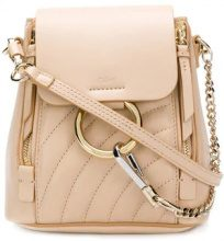 Chloé - quilted Faye backpack - women - Cotone/Calf Leather - One Size - Color carne & neutri