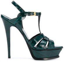 Saint Laurent - Tribute sandals - women - Leather - 35, 36, 36.5, 37, 37.5, 38, 38.5, 39, 40 - Verde