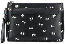 Coach - Disney eyes clutch bag - women - Leather - OS - Nero