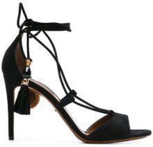 Dolce & Gabbana - tasseled sandals - women - Leather/Suede - 36.5, 39, 39.5 - Nero