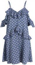 Y.A.S Flounce Details Mini Dress Women Blue