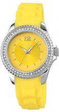 Just Watches 48-S3858-YL - Orologio da polso da donna, cinturino in caucciù colore giallo