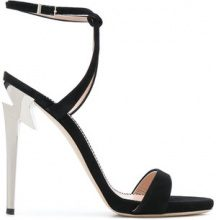 Giuseppe Zanotti Design - Thunder sandals - women - Leather/Calf Suede - 35.5, 36, 36.5, 37, 37.5, 38, 38.5, 39, 40 - Nero