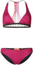 Missoni Mare - Bikini a triangolo - women - Viscose/Cupro/Polyester/Spandex/Elastane - 42 - PINK & PURPLE