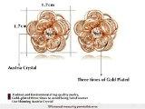 Yoursfs bella Camellia ciondolo collana & Stud orecchini di moda ambra austriaco cristallo donne gioielli moda per la festa di 18ct placcato oro rosa gioielli