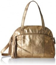 PIECES Pcmylisia Leather Bag - Borsette da polso Donna, Gold (Gold Colour), 15x28x38 cm (B x H T)