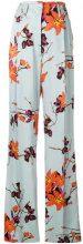 Etro - floral-print flared trousers - women - Viscose - 40, 42 - Blu