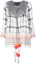 Hemant And Nandita - embroidered peasant blouse - women - Viscose - XS - Bianco