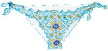 Mc2 Saint Barth - Slip bikini 'Moon' - women - Polyamide/Spandex/Elastane - L - Blu