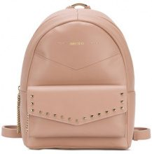 Jimmy Choo - Cassie backpack - women - Lamb Skin/Brass/Cotone/Polyester - One Size - PINK & PURPLE