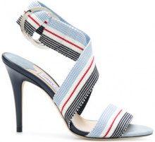 Jimmy Choo - Bailey 100 sandals - women - Cotone/Leather - 36, 36.5, 37, 37.5, 38, 38.5, 39, 39.5, 40 - BLUE