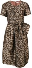 P.A.R.O.S.H. - leopard print flared dress - women - Polyester/Acetate/Viscose/Polyimide - S, L, M - BROWN