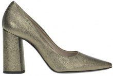 Scarpe decolletè in pelle metallizzata