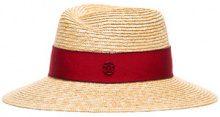 Maison Michel - natural Virginie straw hat - women - Straw - M, L - NUDE & NEUTRALS
