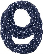TOM TAILOR printed crinkle loop, Slip Donna, Blu (real navy blue), Taglia unica