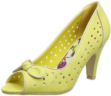 Joe Browns Young At Heart Peep Toes, Scarpe col Tacco Punta Aperta Donna, Giallo (Lemon A), 42 EU