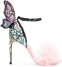 Sophia Webster - Sandali con piuma e farfalla - women - Calf Leather/Leather/Marabou Feathers - 37, 39.5, 40 - unavailable