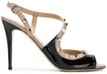 Valentino - Sandali 'Rockstud' - women - Patent Leather/Leather - 35, 35.5, 36, 36.5, 37, 37.5, 38, 38.5, 39, 39.5, 40, 40.5, 41 - Nero