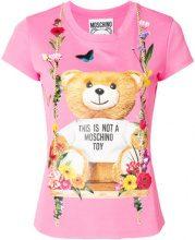 Moschino - T-shirt stampata - women - Viscose/Polyamide - 38, 42, 46, 36 - PINK & PURPLE
