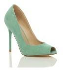 Donna tacco alto festa punta aperta peep toe décolleté scarpe sandali numero