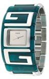 Guess GUESS W12055L2 - Orologio da polso da donna, cinturino in acciaio inox colore verde
