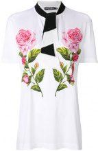 Dolce & Gabbana - floral print T-shirt - women - Cotone/Silk - 40, 42 - WHITE
