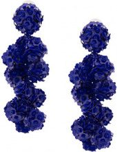Sachin & Babi - Fleur Coconuts clip-on earrings - women - Sequin - OS - BLUE