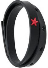 Diesel - star embellished wrapped bracelet - women - Calf Leather - OS - Nero