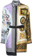 Versace - Barocco Frames shirtdress - women - Silk - 38 - WHITE
