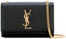 Saint Laurent - Monogram chain wallet - women - Calf Leather - OS - Nero