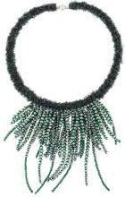 Fabiana Filippi - multi string beaded necklace - women - Wool/Polyamide/glass/Nickel - OS - Verde