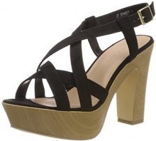 New Look Wide Foot Party, Scarpe col Tacco Punta Aperta Donna, Black (Black 1), 36 EU