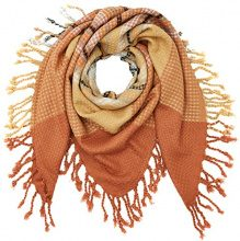 PIECES PCPAULA SQUARE SCARF, Sciarpa Donna, Marrone (Copper Brown), Taglia unica