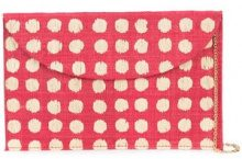 Kayu - spot print clutch bag - women - Raffia - OS - RED