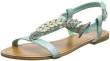 Joe Browns Ocean Breeze Sandals, Sandali con Chiusura a T Donna, Verde (Aqua A), 42 EU