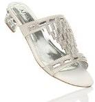 Donna tacco basso strass gemma sera matrimonio ciabatte sandali infradito taglia