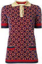 Gucci - Polo in jacquard - women - Polyamide/Wool/Metallic Fibre - S - Multicolore