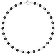 Pearls & Colors Collana di perle Donna argento 925_argento perla rotonda - AM17-COL-AG-R78-AML-WHBL