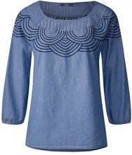 Cecil 341068, Blusa Donna, Blau (Faded Denim Blue 11426), XXL
