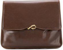 - Salvatore Ferragamo Vintage - square flap clutch - women - Leather - Taglia Unica - color marrone