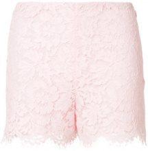 Valentino - high-waisted lace shorts - women - Cotone/Viscose/Polyamide/Spandex/Elastane - 38, 40, 44 - PINK & PURPLE