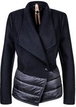 Marc Cain Additions HA 31.08 J30, Cappotto Donna, Blu (Midnight Blue 395), 40(Taglia del Produttore: N1 / 34)
