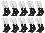 Piarini® - 10 paia di calze donna senza elastico - 100% cotone e pizzo ricamato a mano - Nero/Bianco/Multicolor