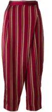 - Antonio Marras - Pantaloni a righe - women - Cupro/Cotone - 40, 42 - Rosso