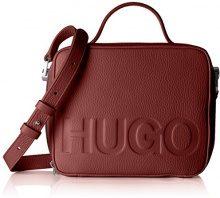 HUGO Mayfair Box - Borse a spalla Donna, Rosso (Dark Red), 7x16.5x20 cm (B x H T)