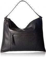 Ecco Sculptured Shoulder Bag 2 - Borse a spalla Donna, Schwarz (Black), 2x33x45 cm (B x H T)
