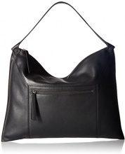 Ecco Sculptured Shoulder Bag 2 - Borse a spalla Donna, Schwarz (Black), 2x33x45 cm (B x H T)