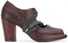 Sartori Gold - Pumps con lacci - women - Buffalo Leather/Leather/rubber - 36, 36.5, 37, 37.5 - BROWN