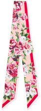 Dolce & Gabbana - peony print foulard - women - Silk - One Size - Rosa & viola